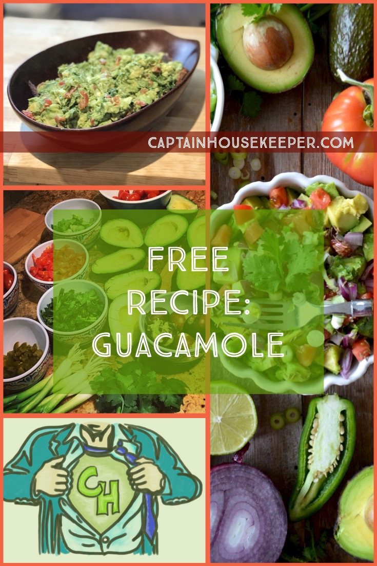 Free recipe Guacamole via CaptainHousekeeper.com